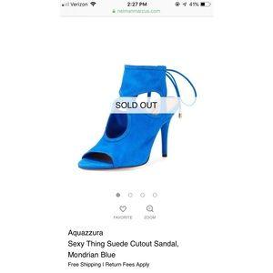 Aquazzura Sexy Thing cutout suede sandals